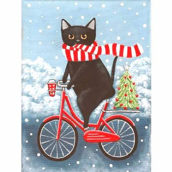 5D Diamond Painting Christmas Tree and Bike Cat Paint with Diamonds Art Crystal ...#art