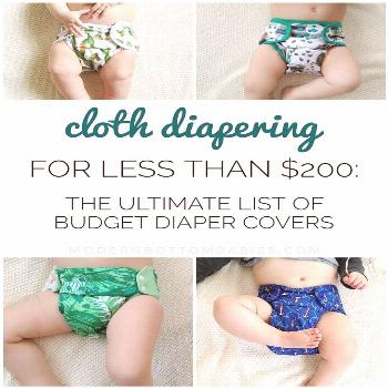 Cloth Diapering For Less Than $200: the ultimate list of budget diaper covers. Simple cloth diaperi