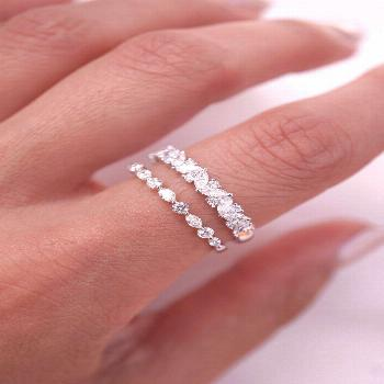 Dainty Stacking Wedding Bands by Brilliance in Diamonds
