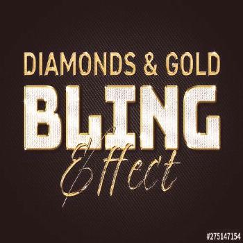 Diamonds and Gold Text Effect Mockup. Buy this stock template and explore similar templates at Adob