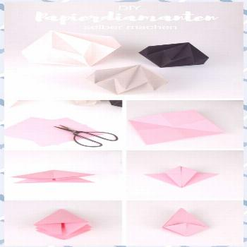 DIY decoration: make paper diamonds yourself with simple folding instructions crafts crafts crafts