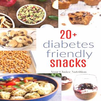 Enjoy these recipes for 20+ Diabetes Friendly Snacks when you've got the munchies but want to keep