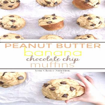 Enjoy these whole wheat Peanut Butter Banana Chocolate Chip Muffins for breakfast or as a sweet aft