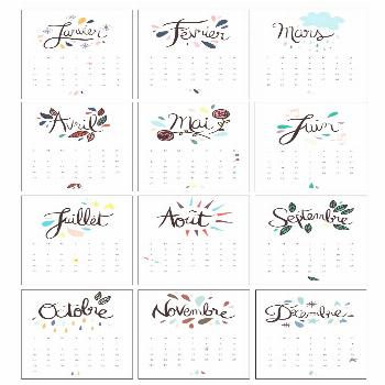 Free 2016 Calendar {French} | Le Calendrier 2016                              …