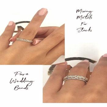 Grace 3.60 Carat Round Diamond - Nature Sparkle Our diamond paved bands perfect for stacks ❤️