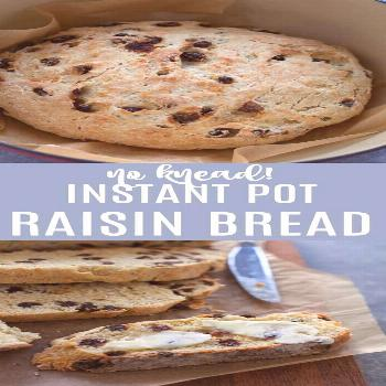 Instant Pot Raisin Bread (No Knead!) - The Foodie Dietitian -  Use the instant pot to help your bre