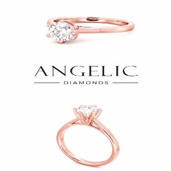 Looking for a stunning simple engagement ring in rose gold? Click on this pin to take a closer look