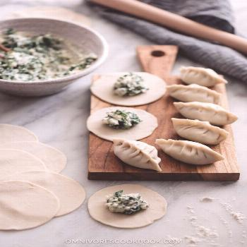 Nepali Momos with Spinach and Ricotta - An easy dim sum appetizer that you can make in your own kit