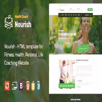 Nourish - HTML Template for Personal Life Coaching Website  ⠀  We know that every business is dif