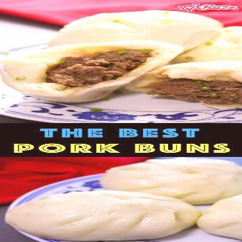 Pork Buns are a Chinese dim sum tradition consisting of soft steamed buns with a juicy and flavorfu