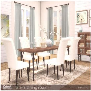 Set of furniture for decorating a dining room in a classic style. Found in TSR Category 'Sims 4 Din