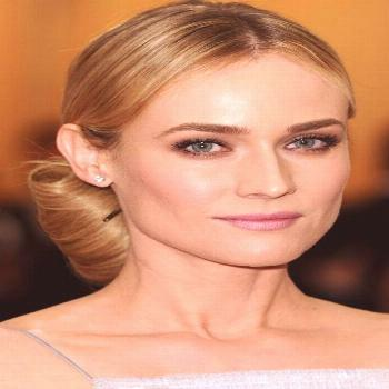 Try a chic oversized bun like Diane Kruger for a simple but glamorous party hair look