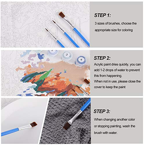 DIY Digital Painting kit,16x20 inch Oil Painting Made by