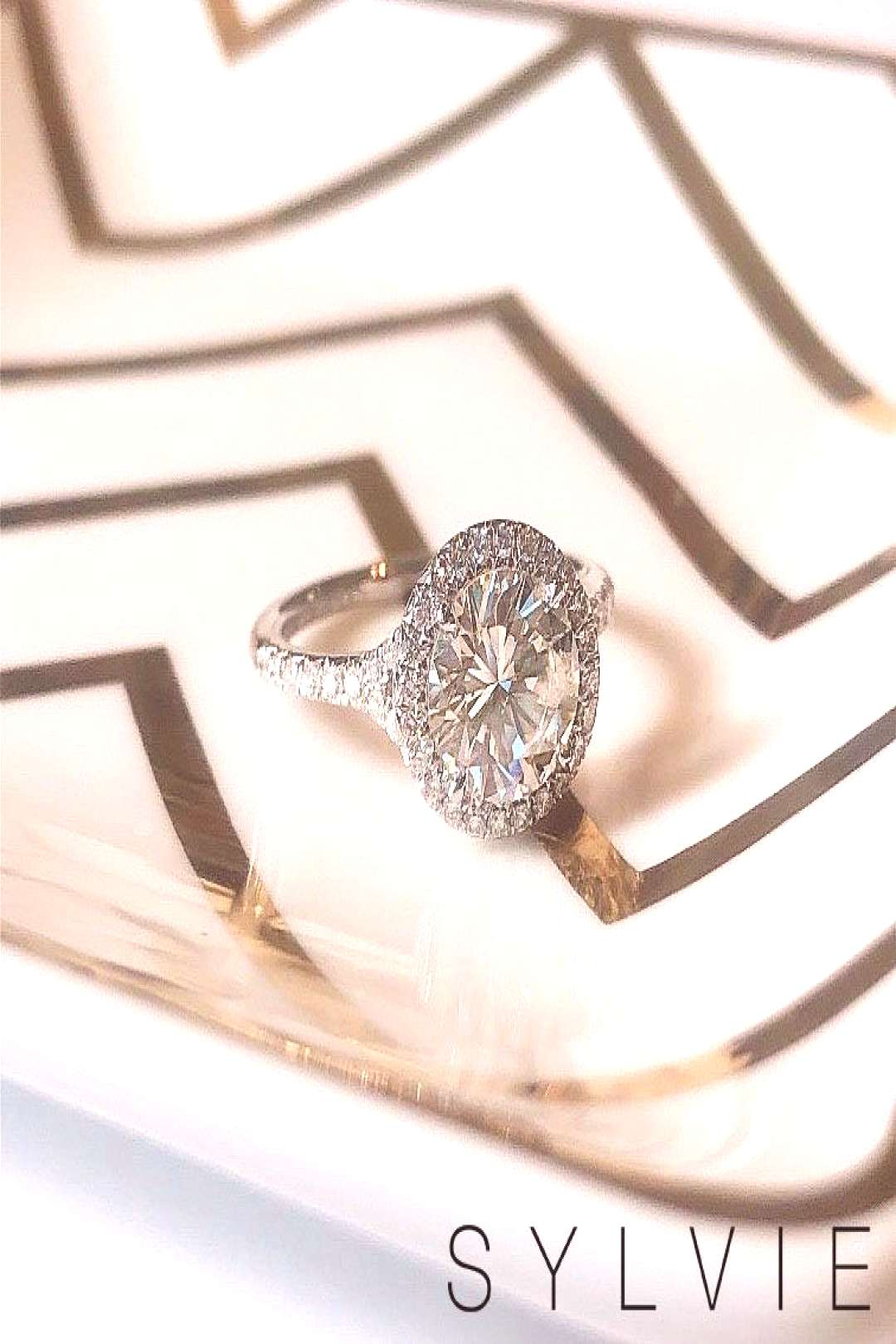 Halo Engagement Ring S1814 Sylvie bride Maxine fell in love with the Alexandra ring but wanted a ro