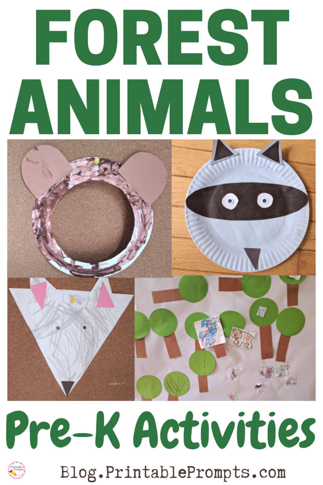 Preschool Forest Animal Activities - Mountains and Forests