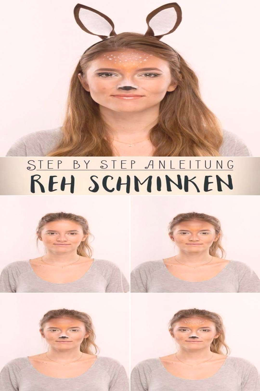Reh schminken Step by Step