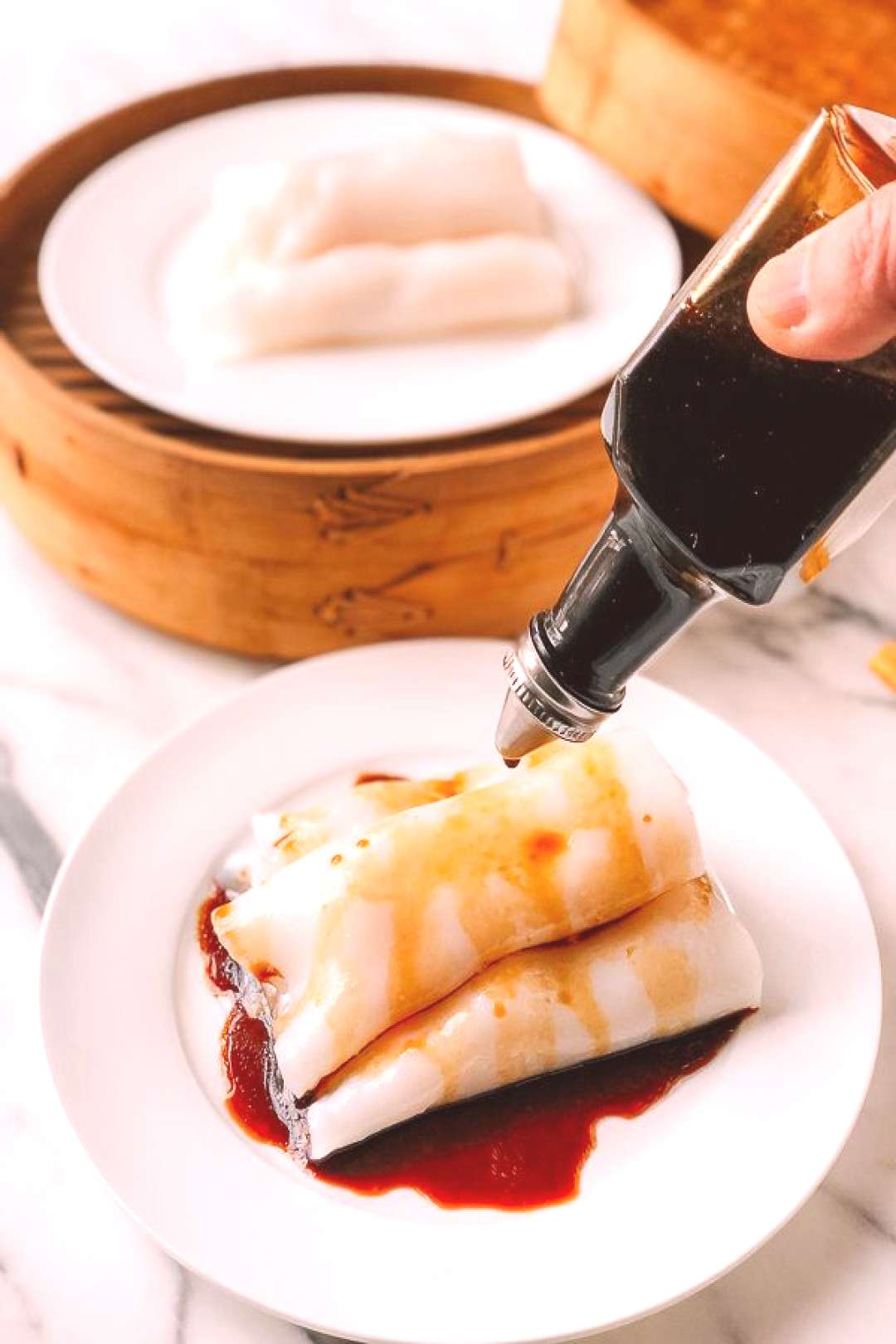 """Shrimp Rice Noodle Rolls (Shrimp Cheung Fun or """"Ha Cheung"""") recipe by The Woks of Life"""